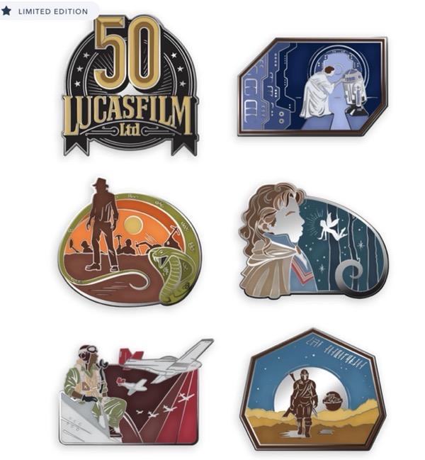 Lucasfilm 50th Anniversary D23 Pins