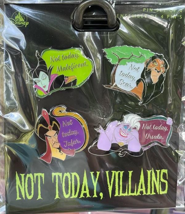Not Today, Villains Disney Pin Set