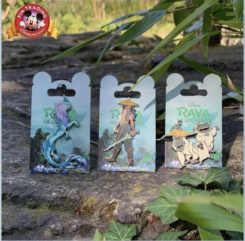 Raya and the Last Dragon Open Edition Pins at Disneyland Paris