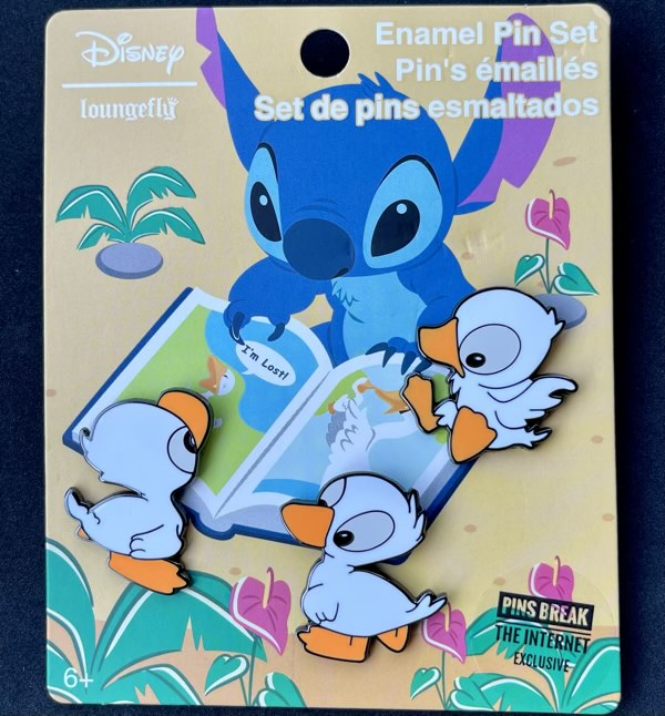 Stitch Ducklings Loungefly Pins Break the Internet Pin Set