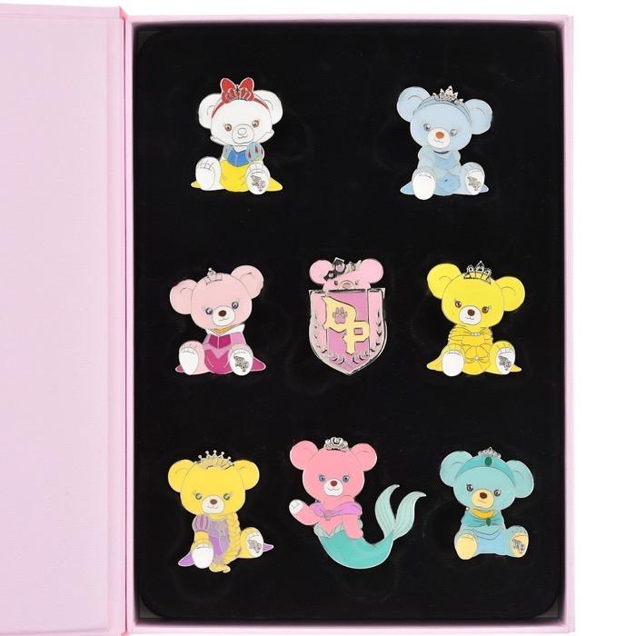 UniBEARsity Princess Bear 10th Anniversary Pin Set - Disney Store Japan