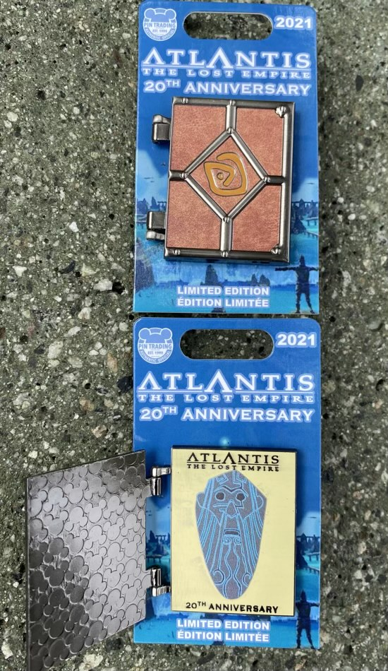 Atlantis The Lost Empire 20th Anniversary Hinged Pin