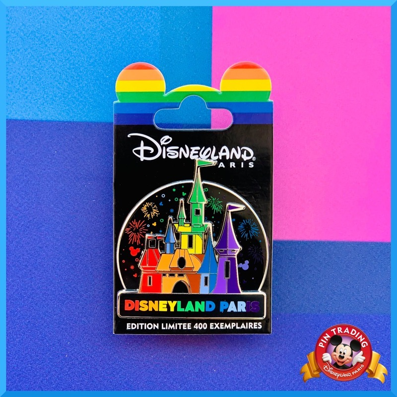 Castle Rainbow 2021 Disneyland Paris Pin