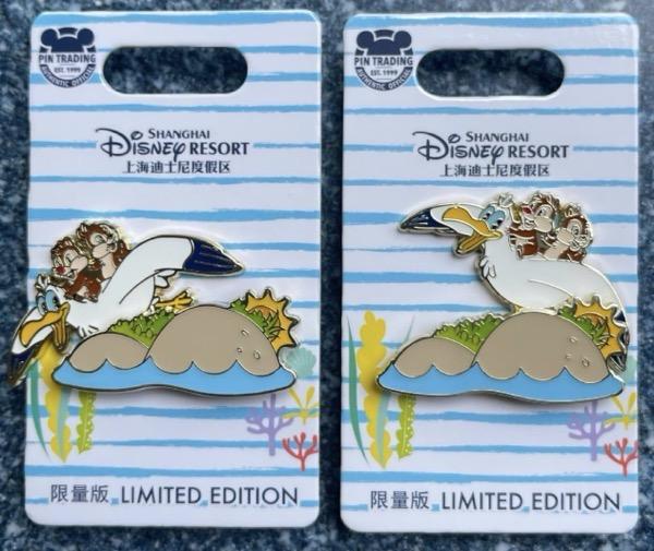 Chip n Dale Seagull Summer 2021 Pin - Shanghai Disney Resort