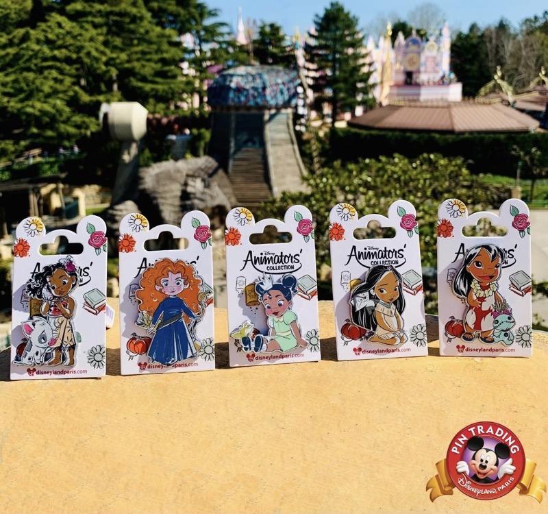 Disney Animators' Pin Collection at Disneyland Paris