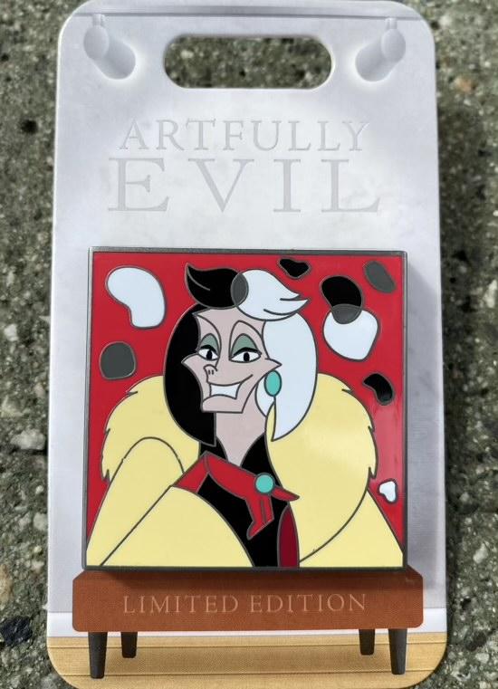 Cruella de Vil Artfully Evil Disney Pin