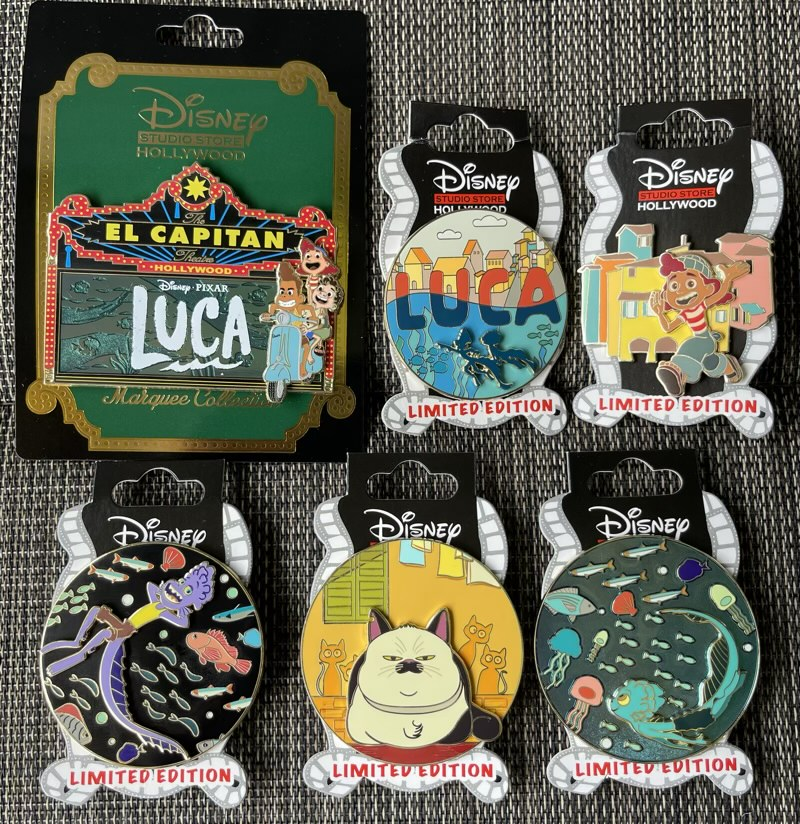 Luca Disney Studio Store Hollywood Pins
