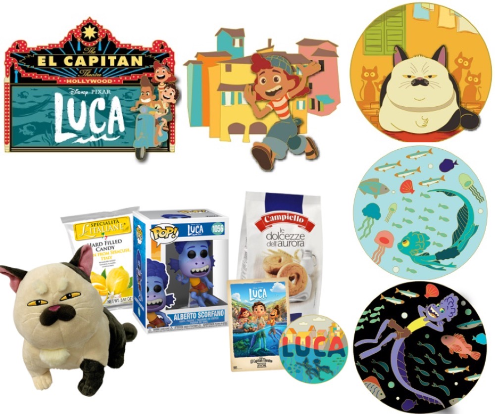 Luca Online Pin Release at Disney Studio Store Hollywood