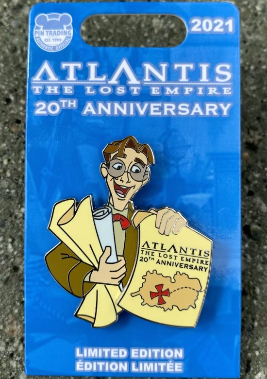 Milo Thatch Atlantis The Lost Empire 20th Anniversary Pin