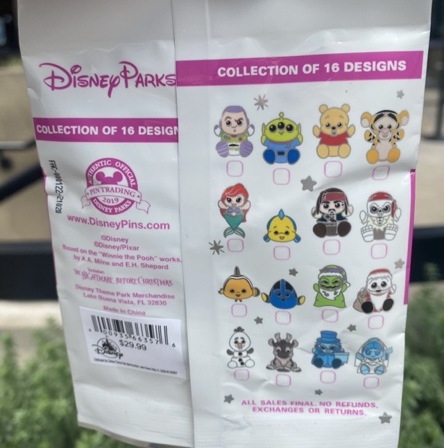 New Disney Parks Wishables Series 1 Pin Pack