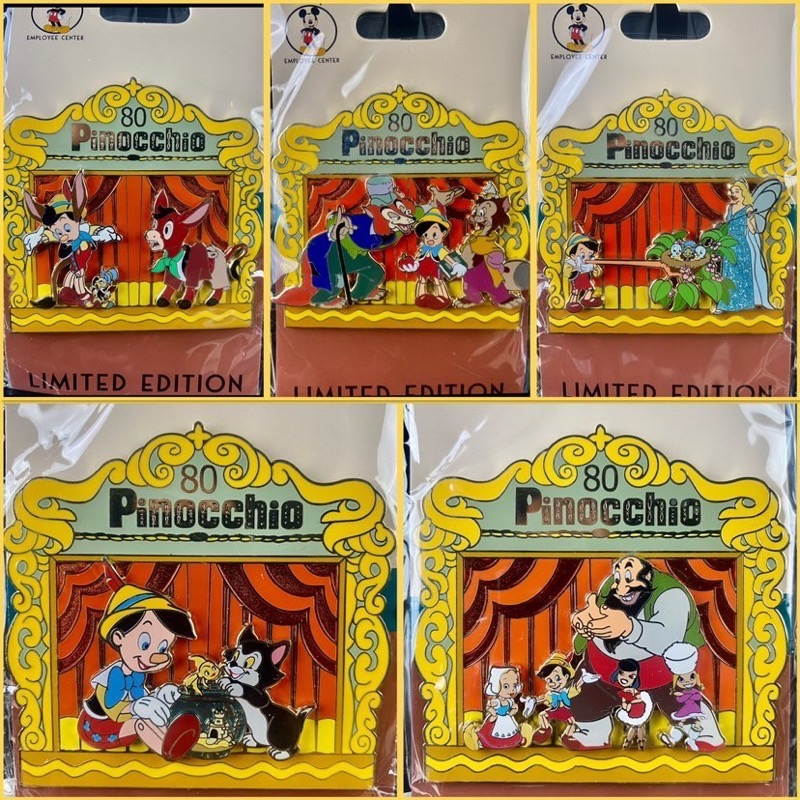 Pinocchio 80th Anniversary DEC Pins