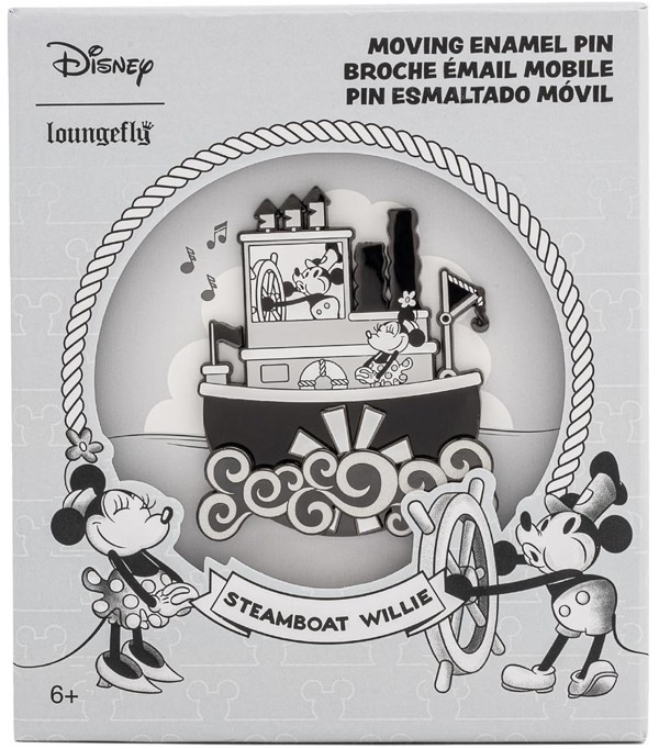 Steamboat Willie Limited Edition Loungefly DIsney Pin