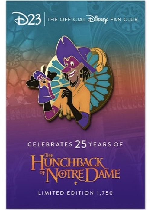 The Hunchback of Notre Dame 25th Anniversary D23 Pin