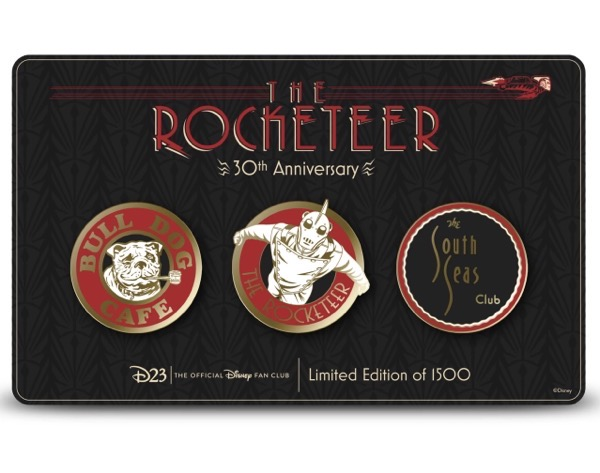 The Rocketeer 30th Anniversary D23 Exclusive Pin Set