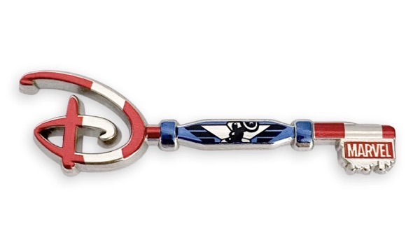 Captain America 80th Anniversary Disney Store Key Pin
