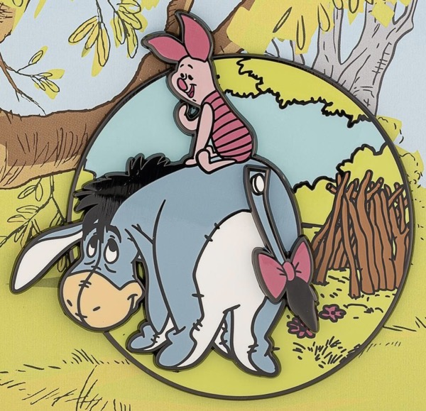 Eeyore & Piglet LE 1,000 Loungefly Pin
