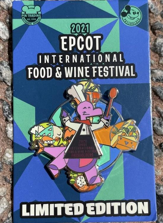 Figment Epcot Food & Wine 2021 Logo Disney Pin Figment Epcot Food & Wine 2021 Logo Disney Pin