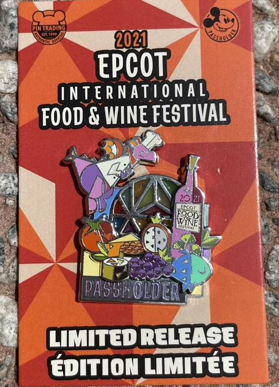 Figment Epcot Food & Wine 2021 Passholder Disney Pin