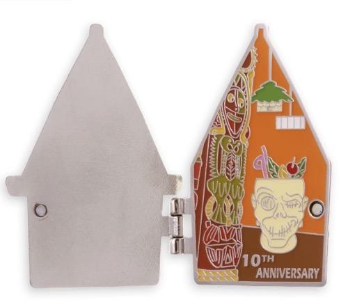 Inside Trader Sam's Enchanted Tiki Bar 10th Anniversary Pin