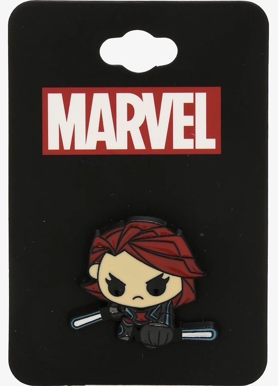 Marvel Black Widow Chibi BoxLunch Pin