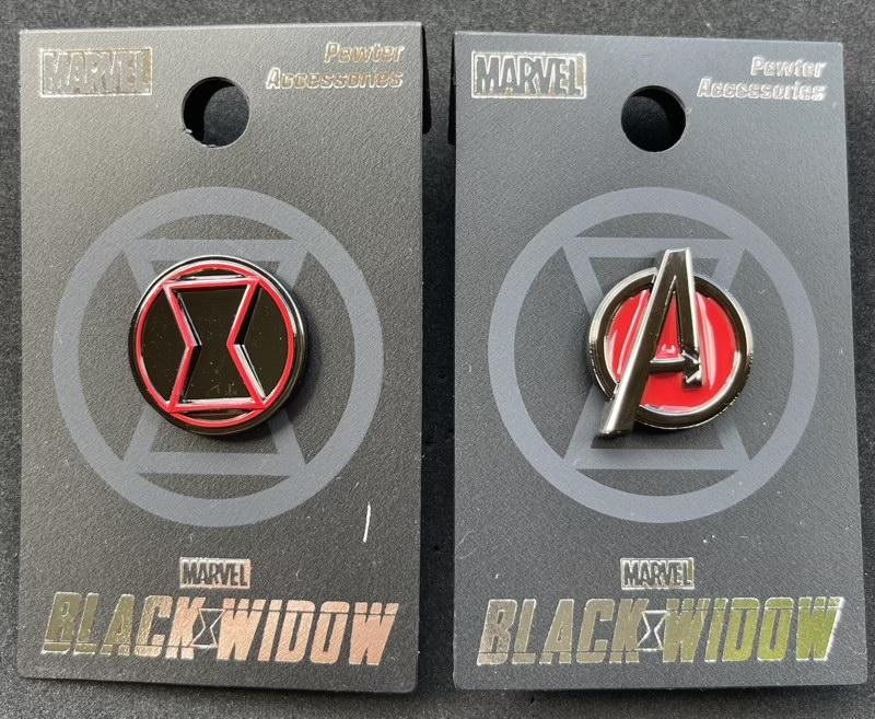 Marvel Black Widow Monogram International Pins