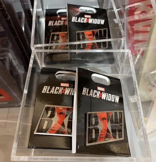 Marvel Black Widow Pin at Disney Store Japan