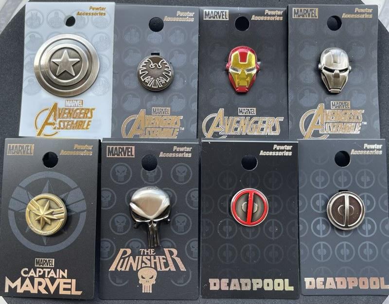 Marvel Monogram International Pins