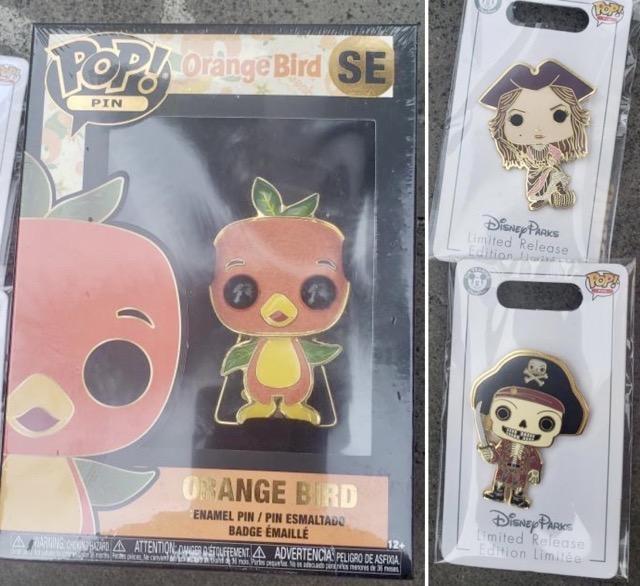 Orange Bird & Pirates Funko Pop! Pins