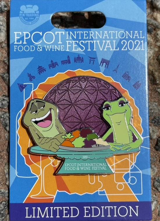 Princess and the Frog - Epcot Food & Wine 2021 Disney Pin