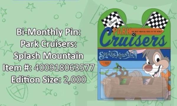 Splash Mountain Disney Park Cruisers Pin
