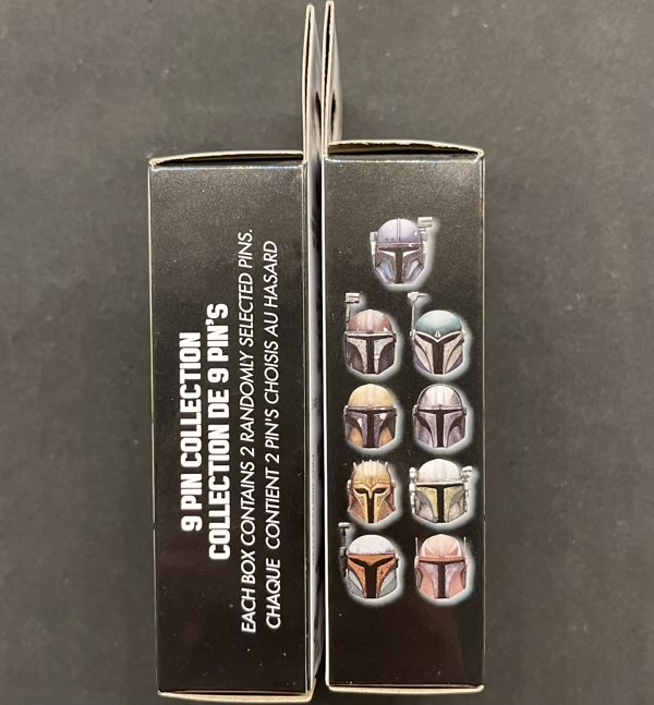 Star Wars The Mandalorian Helmets Mystery Pin Collection