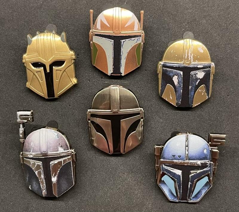 Star Wars The Mandalorian Helmets Mystery Pins