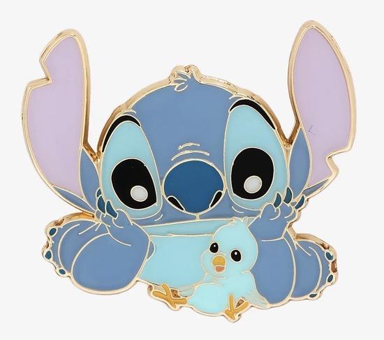 Stitch with Blue Bird Disney Pin