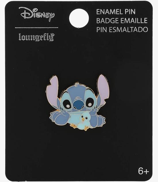 Stitch with Blue Bird BoxLunch Disney Pin