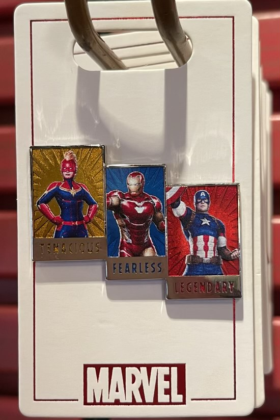 Tenacious, Fearless, Legendary Marvel Pin