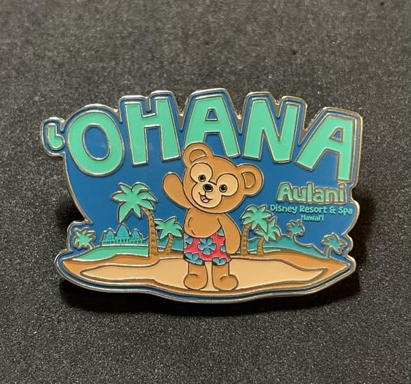 'Ohana Duffy Bear Pin at Aulani Disney Resort