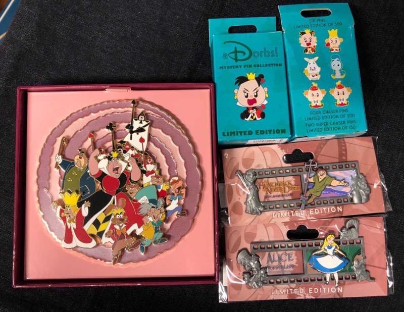 Alice in Wonderland 70th Anniversary WDI Pins