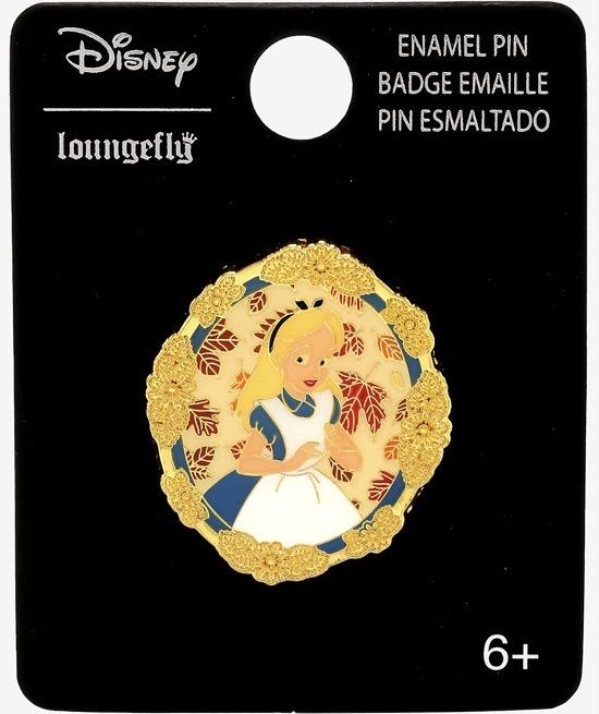 Alice in Wonderland Leaf Portrait BoxLunch Disney Pin