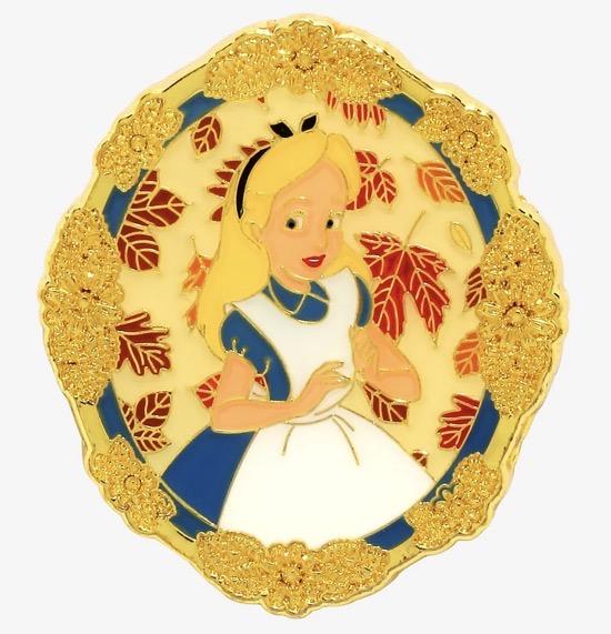 Alice in Wonderland Leaf Portrait Disney Pin