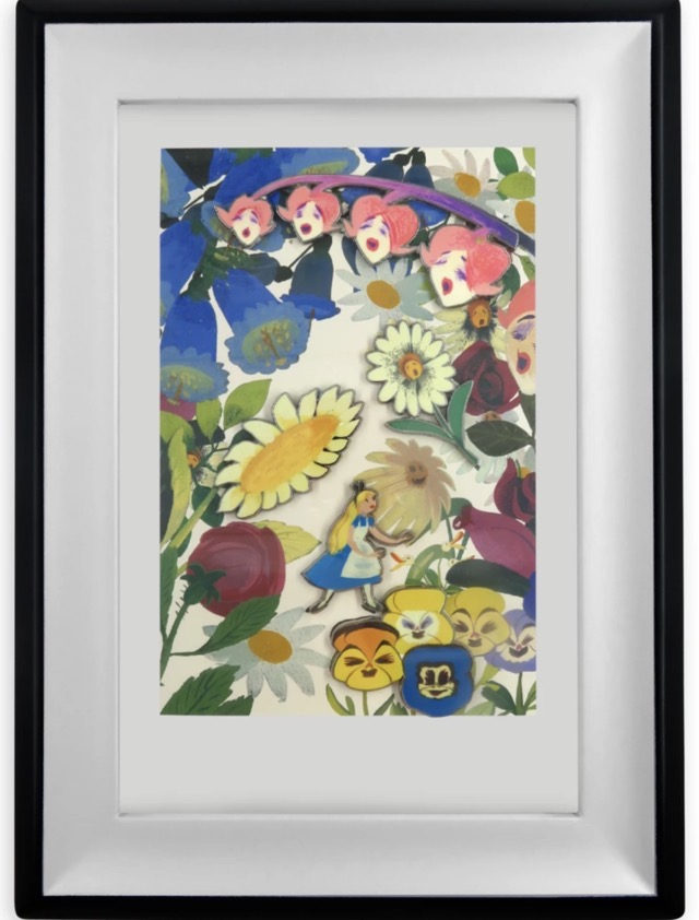 Alice in Wonderland by Mary Blair Framed Pin Set
