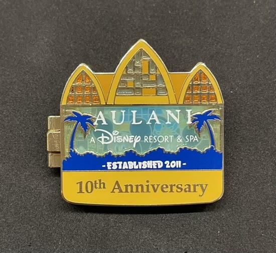Aulani Disney Resort 10th Anniversary Pin