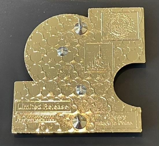 Back of First Walt Disney World 50th Anniversary Pin