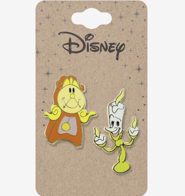 Beauty and the Beast Chibi Cogsworth and Lumiere Disney Pin Set