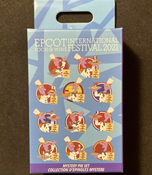 Chef Figment Epcot Food & Wine 2021 Mystery Pin Collection
