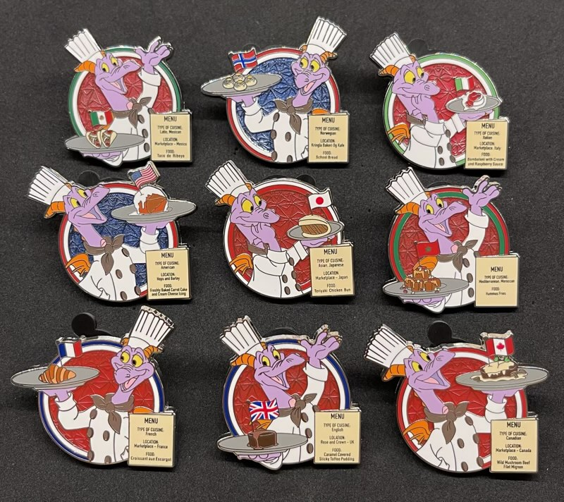 Chef Figment Epcot Food & Wine 2021 Mystery Pins