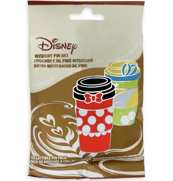 Disney Coffee Cups Mystery Pin Pack