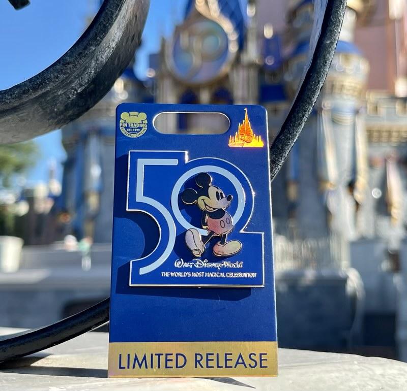 First Walt Disney World 50th Anniversary Pin - Castle