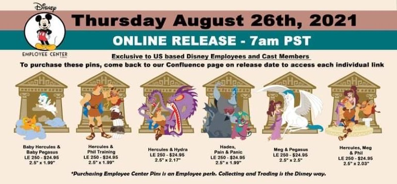 Hercules Pin Series at Disney Employee Center