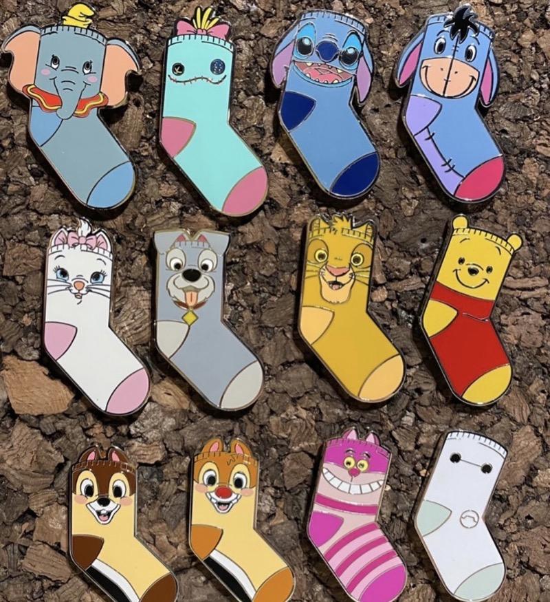Magic Prize Sock Pins - Hong Kong Disneyland