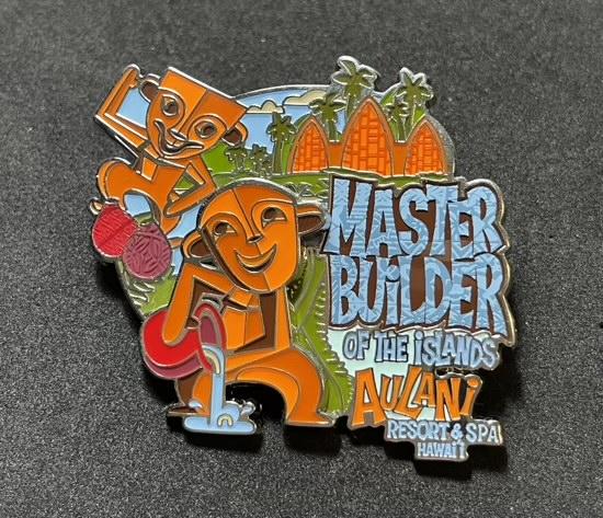 Menehune Master Builder of the Islands Aulani Resort Disney Pin
